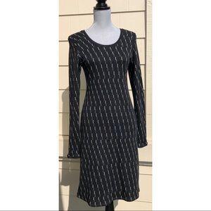 Ibex Juliet Black Merino Wool Sheath Dress